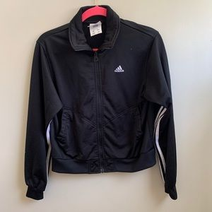 Adidas black and white trefoil jacket S